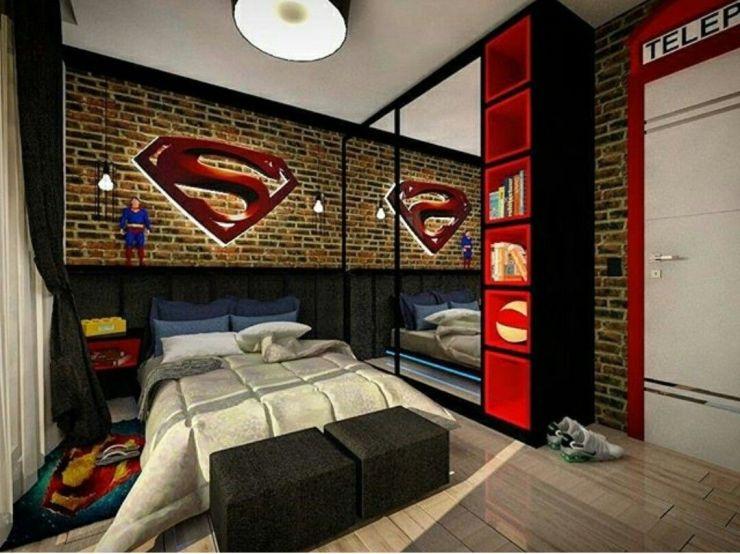 10 Deko Bilik Tidur Bertemakan Superhero Yang Cool Stylo Second Notion Design Consultant